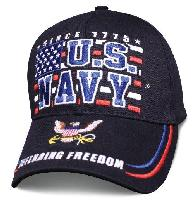 Licensed Navy Ball Cap [Block Flag]